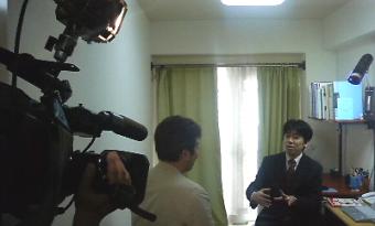 フジテレビ 「とくダネ!」インタビュー写真